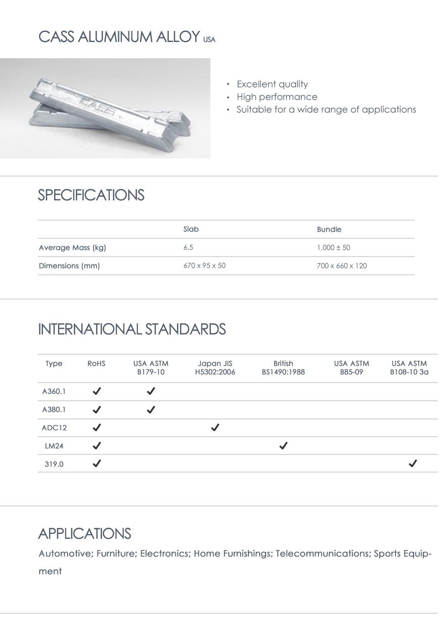 cass aluminum alloy